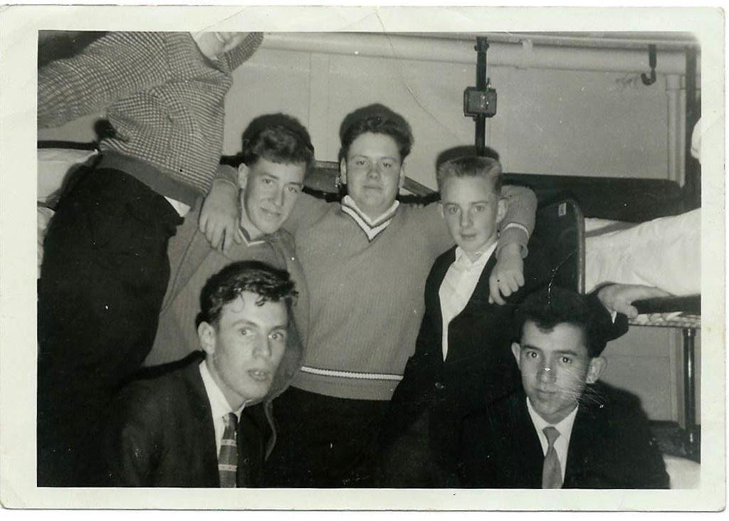New Boys Heading North On Inter Island Ferry 1964
