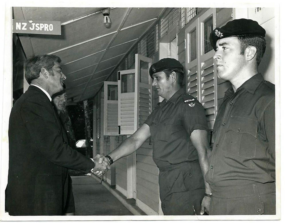 R Coburn Meeting The Minister Of Defence David Thomson, MC At Singapore 71